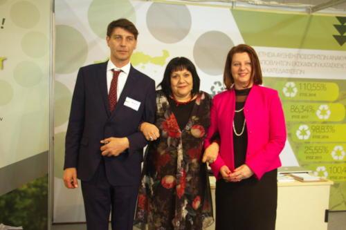 Περίπτερο ANAKEM  με την Πρόεδρο Φορέα Διαχείρισης Θερμαϊκού, κα Παναγιώτου